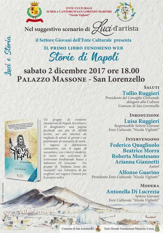 """Luci e Storia: presentazione del libro """"Storie di Napoli"""""""